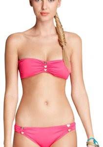Juicy Couture button bandeau bra and bottom