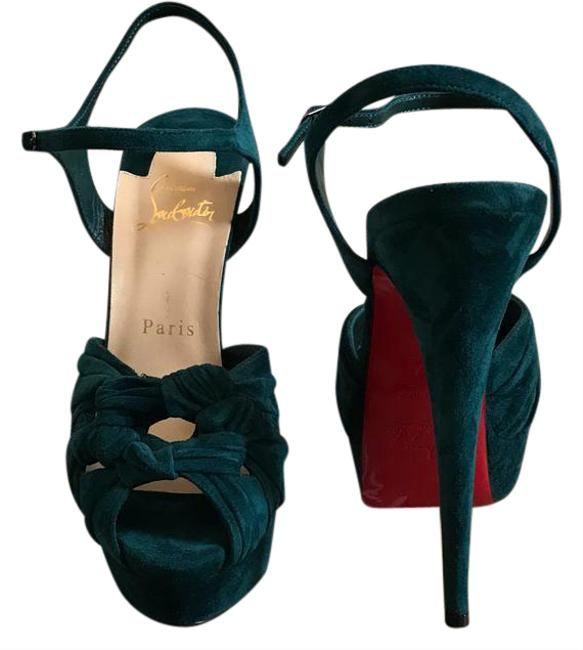 Item - Teal Ionescadiva Platforms Size US 7 Narrow (Aa, N)