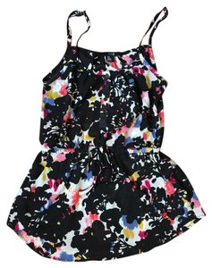 Forever 21 Floral Light Drawstring Chiffon Cinched Waist Top Multi