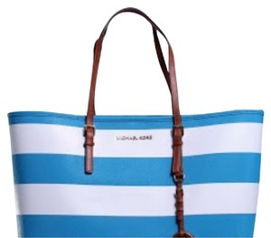 Michael Kors Tote in blue and white