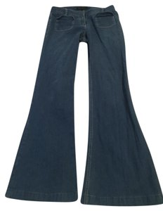 Theory Pockets Trousers Wide Leg Pants Blue