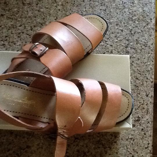Victoria Austin Gladiator Leather Tan Sandals