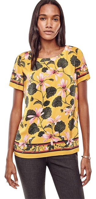 Preload https://img-static.tradesy.com/item/21126008/ann-taylor-multicolor-botanical-silk-tee-golden-chartreuse-blouse-size-12-l-0-1-650-650.jpg