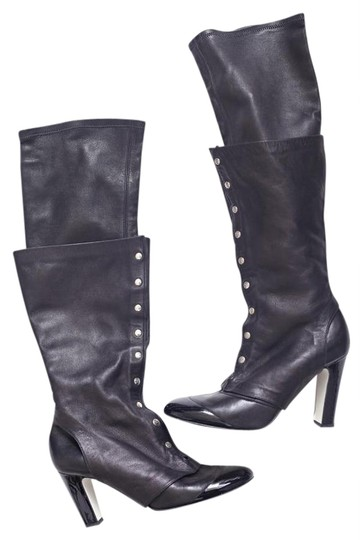 Preload https://img-static.tradesy.com/item/21126035/chanel-black-stretch-leather-high-heel-pull-on-spats-tall-bootsbooties-size-us-9-0-1-540-540.jpg
