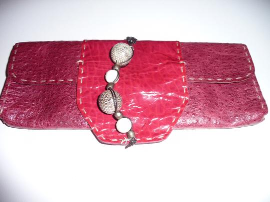 Other Vintage Hand Made Hand Sewn Art Red Clutch