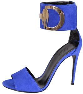 Gucci Stiletto Ankle Deep Zaffiro Sandals