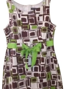 Jessica Howard short dress Bright White, Spring Green, Chocolate Brown on Tradesy