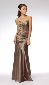 Watters Stone Duchess Satin And Style 966 Formal Bridesmaid/Mob Dress Size 6 (S)