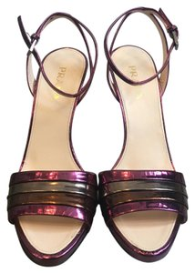 Prada Purple, brown, and gold Sandals