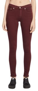 Rag & Bone & Fit Skinny Pants Maroon