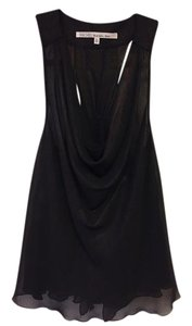 Rachel Roy Flowy Sleeveless Top Dark Sparkly Bronze/Black