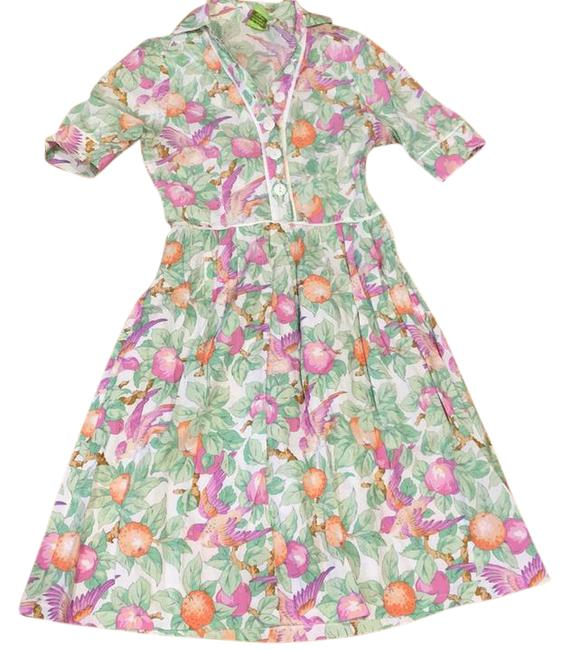 Item - Multi Color Fitted Mid-length Short Casual Dress Size 2 (XS)