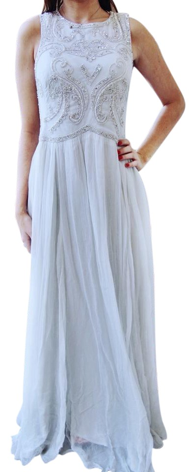 Urban Outfitters Light Blue Jewel Maxi Long Formal Dress Size 2 Xs