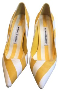 Manolo Blahnik Yellow & White Pumps