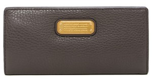 Marc by Marc Jacobs Nwt $148 New Q Tomoko Continental Bifold Faded Aluminum Wallet Clutch