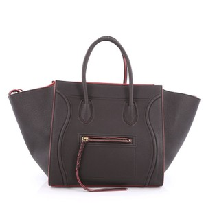 Céline Leather Tote in Dark grey