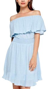 Southern Girl Fashion short dress Blue Smocked Stretchy Off The Easter Spring Summer Powder on Tradesy