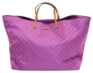 Gucci Gg Nylon Tote in Purple