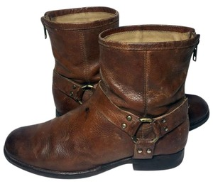 Frye 76871 Phillip Harness 9.5 Motorcycle Women's 9.5 Brown Boots