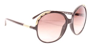 Chlo Brown Gold Trim Sunglasses