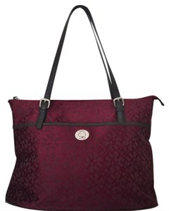 Tommy Hilfiger Signature Monogram Tote in Red