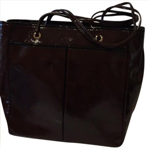 Anya Hindmarch Tote in Burgundy with black trim
