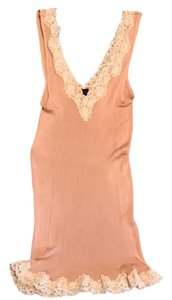 Banana Republic Top nude with cream lace trim