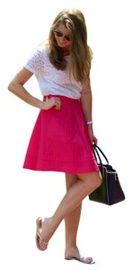 White House | Black Market Hot Summer A-line High Fashion Skirt Pink
