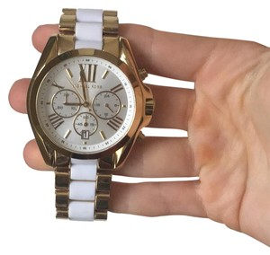Michael Kors gold and white watch