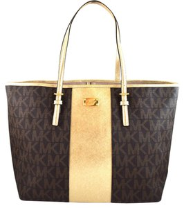 Michael Kors Tote in brown/light gold