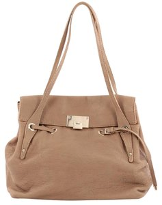 Jimmy Choo Leather Tote in Light Brown