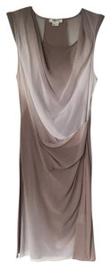 Helmut Lang short dress Nude Ombre Ombre Nude Sheer Silk Draped on Tradesy