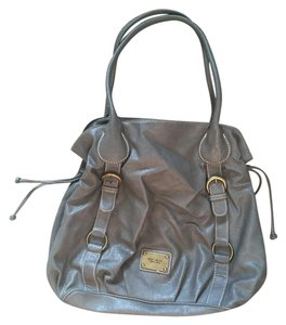 Nine West Leather Tote in Grey