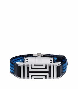 Tory Burch TORY SPORT FOR FITBIT STRIPED GROSGRAIN BRACELET