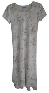 Ivory / Beige Floral Design Maxi Dress by Jessica Howard
