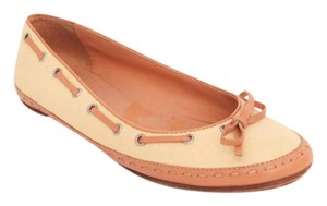 Chanel Moccasin Ballet Slip On Boat Yellow Flats