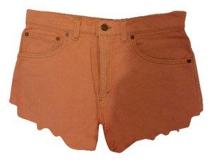 Levi's Denim Coral Summer Vintage Cut Off Shorts peachy coral