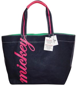 Disney Mouse Canvas & Pink Tote in Navy