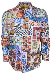 Robert Graham Shirt Men's Shirt Button Down Shirt Wild Desert