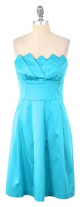 Trina Turk Silky Strapless Jewel-tone Dress
