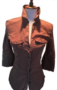 James Perse Button Down Shirt rust