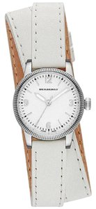 Burberry Burberry Unisex Swiss The Utilitarian White Leather Double Strap Watch