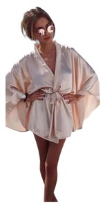 Other New Champagne Satin Robe Coverup
