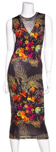 Black Floral Print Maxi Dress by Jean-Paul Gaultier