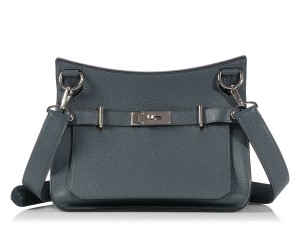 Herms Hr.l0124.05 Blue Grey Leather Cross Body Bag