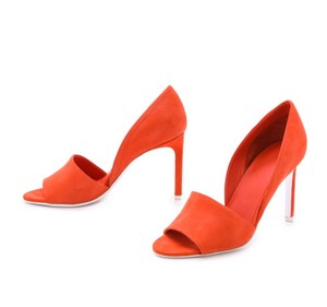 Vince Women's Leather D'orsay Bright Flame Pumps