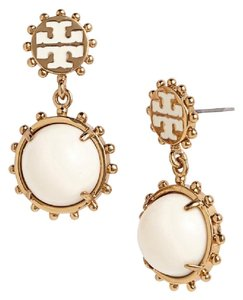 Tory Burch Tory Burch Winslow drop Earrings White