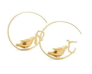 Tory Burch TORY BURCH DOVE HOOP EARRINGS
