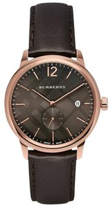 Burberry Burberry Swiss The Classic Round Dark Brown Leather Strap BU10012