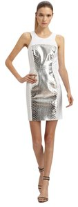 Milly of New York Metallic Leather Color-blocking Dress